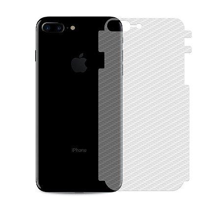 Película Traseira de Fibra de Carbono Transparente para iPhone 7 Plus - 99capas
