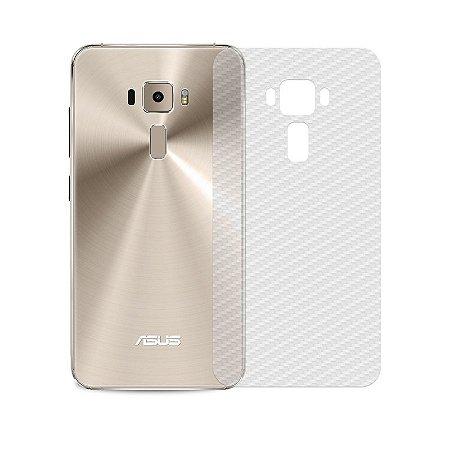 Película Traseira de Fibra de Carbono Transparente para Asus Zenfone 3 ZE552KL - 99capas