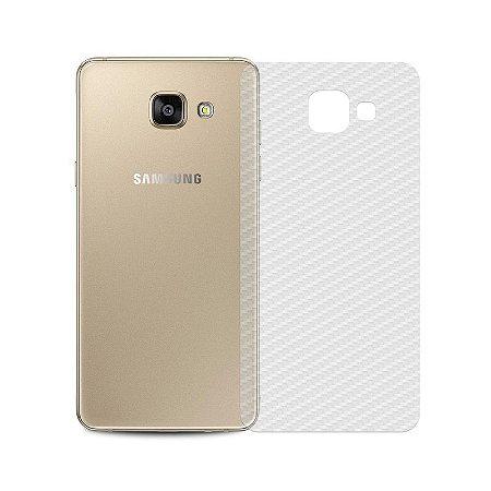 Película Traseira de Fibra de Carbono Transparente para Samsung Galaxy A5 2016 - 99capas