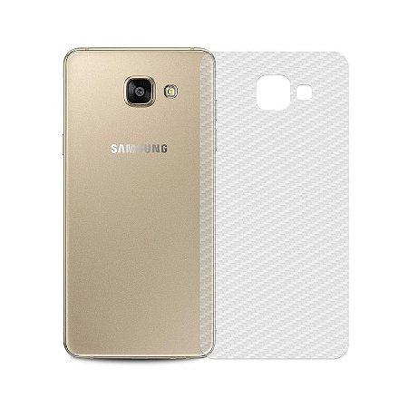 Película Traseira de Fibra de Carbono Transparente para Samsung Galaxy A7 2016 - 99capas