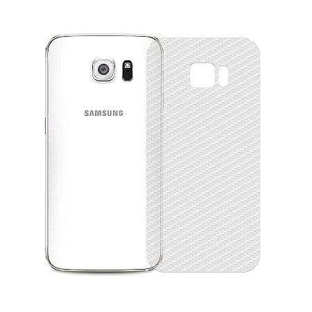 Película Traseira de Fibra de Carbono Transparente para Samsung Galaxy S6 Edge Plus - 99capas