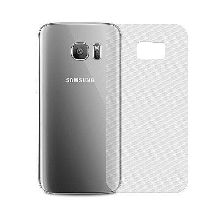 Película Traseira de Fibra de Carbono Transparente para Galaxy S7 Edge - 99capas