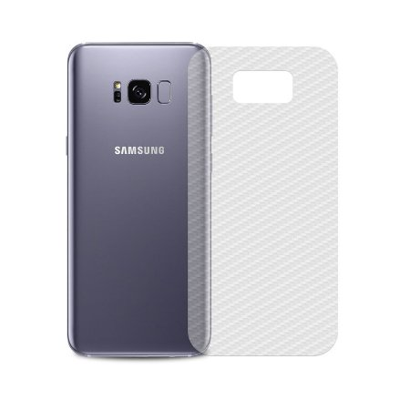 Película Traseira de Fibra de Carbono Transparente para Samsung Galaxy S8 - 99capas