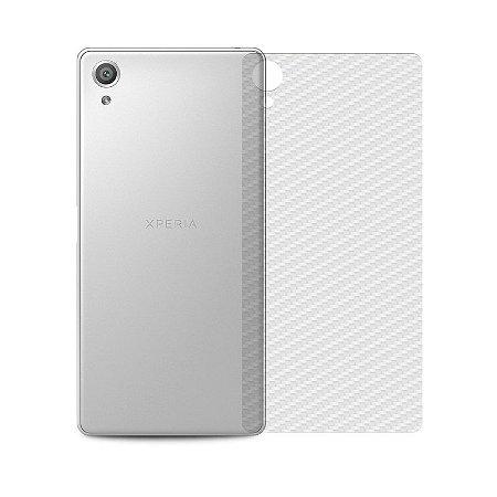 Película Traseira de Fibra de Carbono Transparente para Sony Xperia XA - 99capas