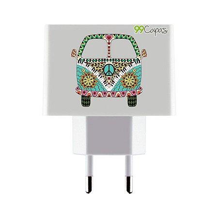 Carregador Personalizado Duplo USB de Parede - Kombi