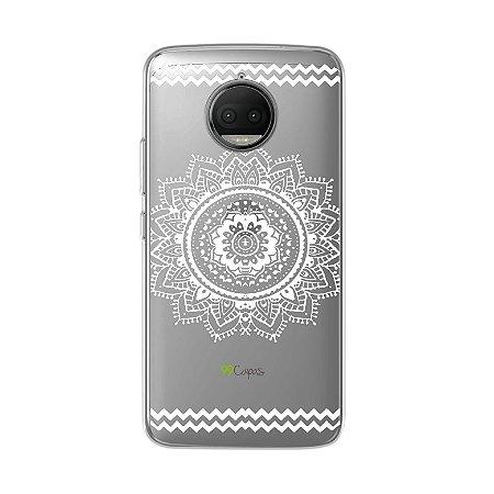 Capa para Moto G5S Plus - Mandala Branca