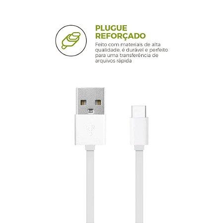 Cabo USB Type-C Branco 1,2M