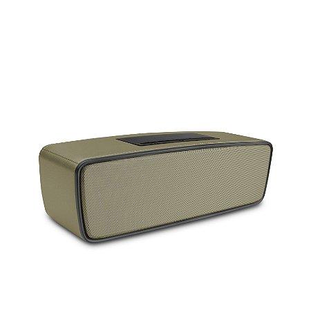 Caixa de Som Bluetooth Speakers Dourado - 99Capas