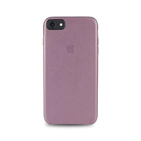 Capa Couro Rosa Apple iPhone 8