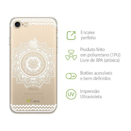 Capa para Apple IPhone 8 - Mandala Branca
