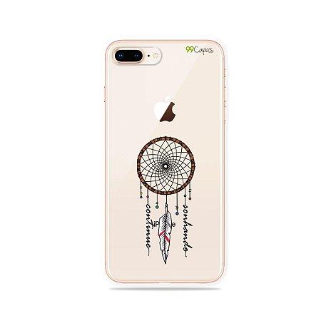 Capa para iPhone 8 Plus - Continue Sonhando