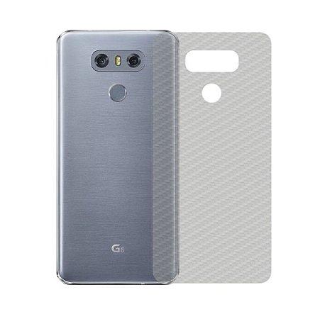 Película Traseira de Fibra de Carbono Transparente para LG G6 - 99capas