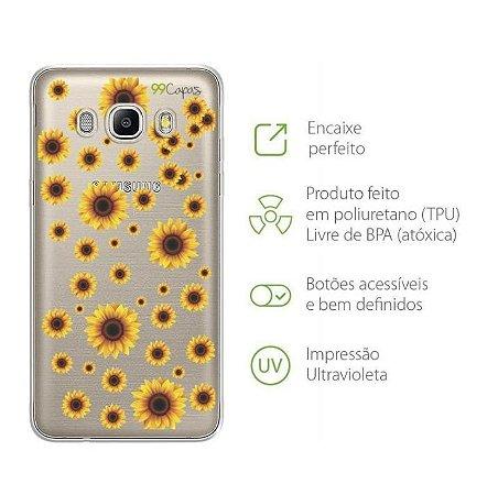 Capa para Galaxy J7 Neo - Girassóis