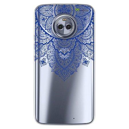 Capa para Motorola Moto X4 - Mandala Azul