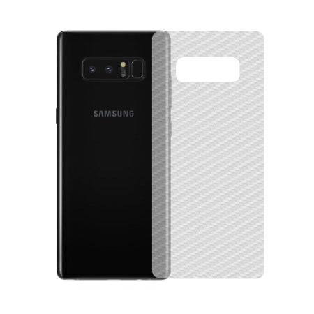 Película de Fibra de Carbono Traseira Transparente para - Samsung Galaxy Note 8 - 99capas