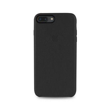 Capa Couro Preta para Apple iPhone 8 Plus