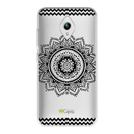 Capa para Zenfone GO ZC500TG - Mandala Preta