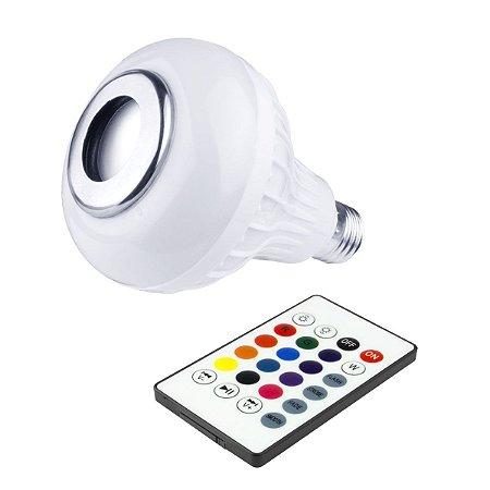 Lampada Caixa de Som Bluetooth com controle