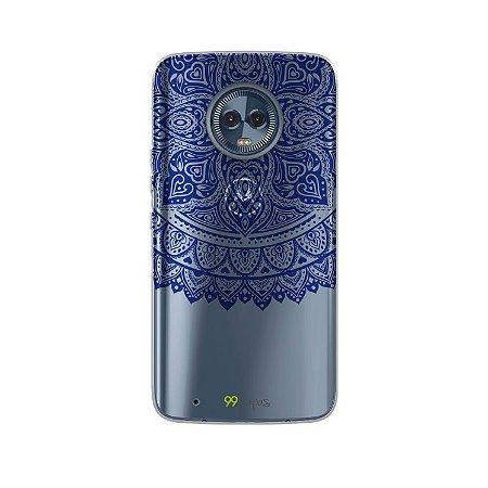 Capa para Moto G6 - Mandala Azul