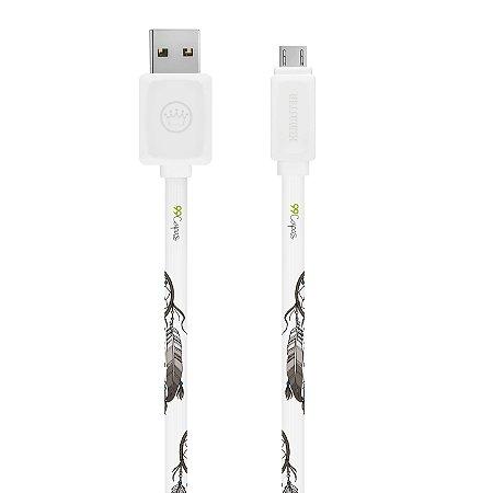 Cabo Micro USB Branco Personalizado - Filtro dos Sonhos