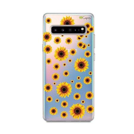 Capa para Galaxy S10 - Girassóis