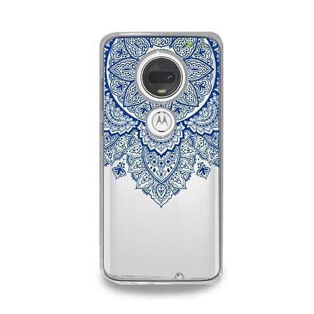 Capa para Moto G7 Plus - Mandala Azul