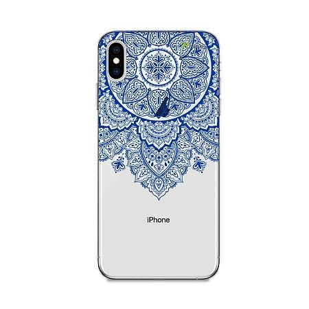 Capa para iPhone XS Max - Mandala Azul