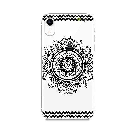 Capa para iPhone XR - Mandala Preta