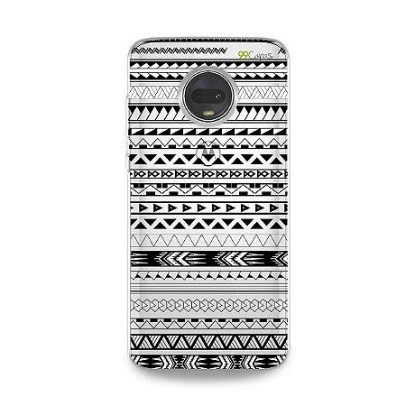 Capa para Moto G7 - Maori Branca