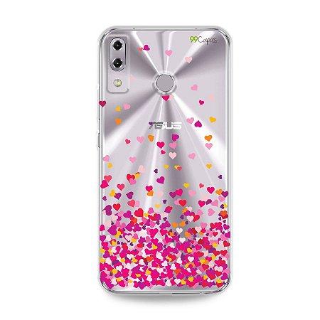Capa para Asus Zenfone 5 e 5Z - Corações Rosa