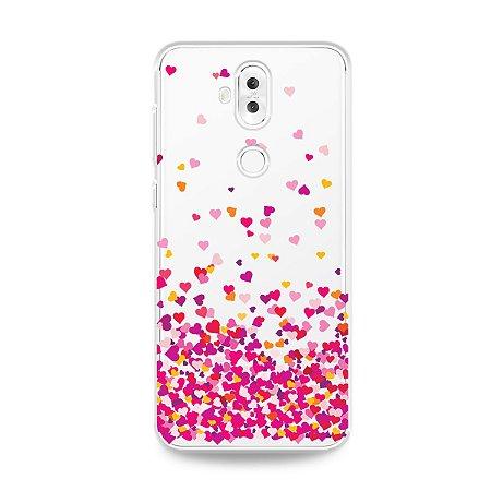Capa para Asus Zenfone 5 Selfie - Corações Rosa