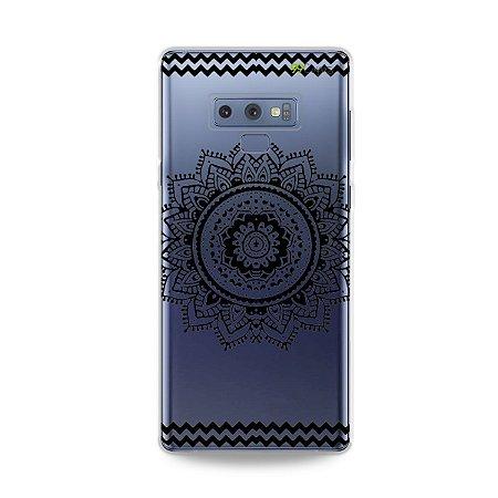 Capa para Galaxy Note 9 - Mandala Preta