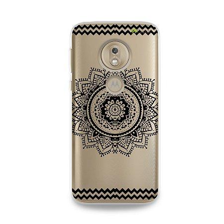 Capa para Moto G7 Play - Mandala Preta