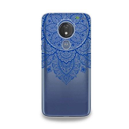 Capa para Moto G7 Power - Mandala Azul