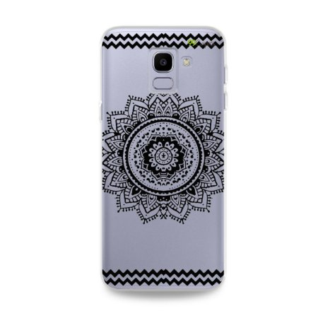 Capa para Galaxy J6 - Mandala Preta