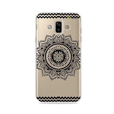 Capa para Galaxy J7 Duo - Mandala Preta