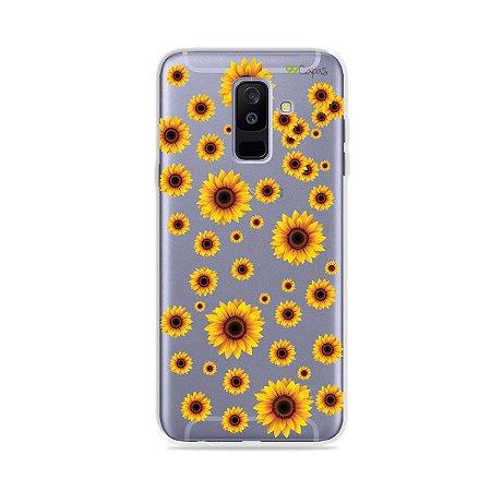 Capa para Galaxy A6 Plus - Girassóis