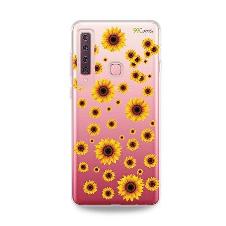 Capa para Galaxy A9 2018 - Girassóis