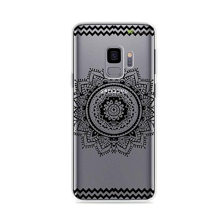 Capa para Galaxy S9 - Mandala Preta
