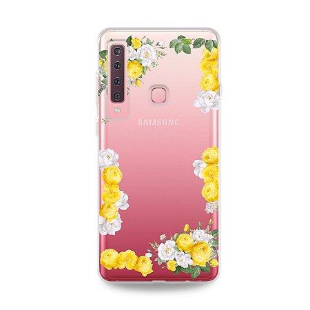 Capa para Galaxy A9 2018 - Yellow Roses