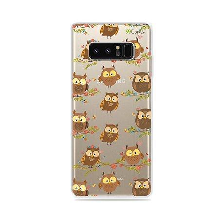 Capa para Galaxy Note 8 - Corujinhas