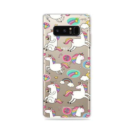Capa para Galaxy Note 8 - Unicórnios Felizes