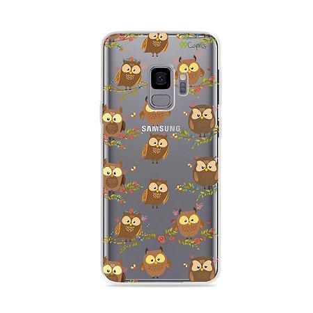 Capa para Galaxy S9 - Corujinhas
