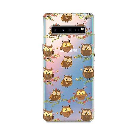 Capa para Samsung Galaxy S10 - Corujinhas