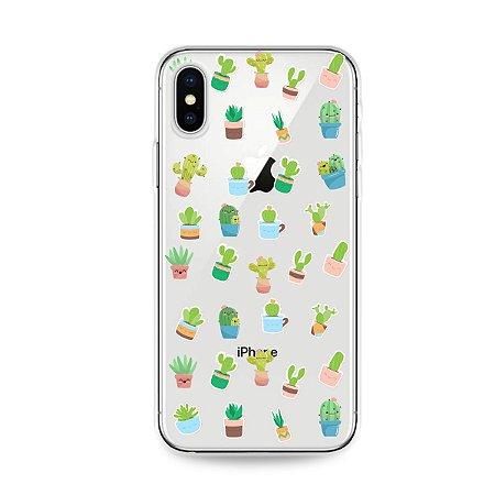 Capa para iPhone X/XS - Cactus