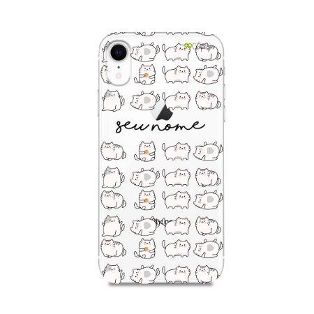 Capa Lazy Cat com nome personalizado - 99capas