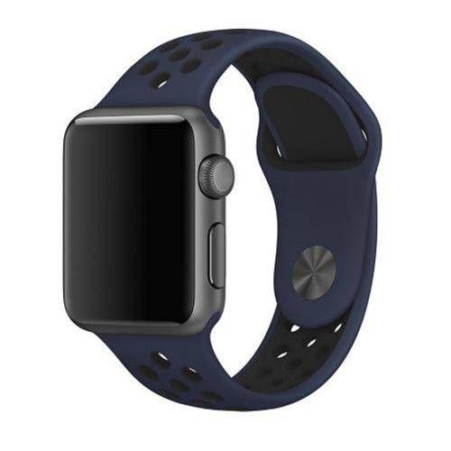 Pulseira Esportiva para Apple Watch azul com preto - 38/40 mm - 99Capas