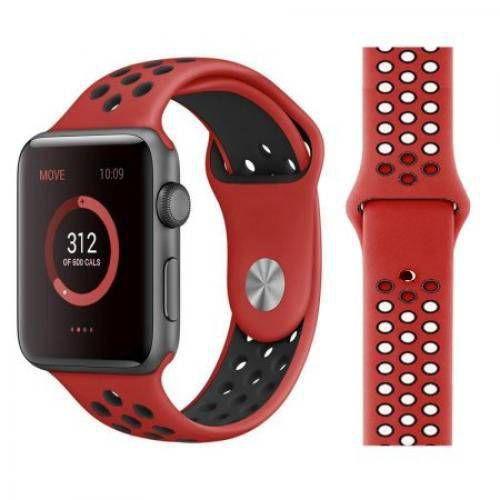 Pulseira esportiva para Apple Watch vermelho com preto -38/40 mm - 99Capas