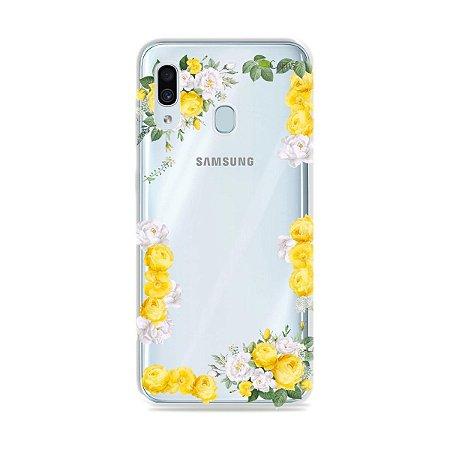 Capa para Galaxy A30 - Yellow Roses