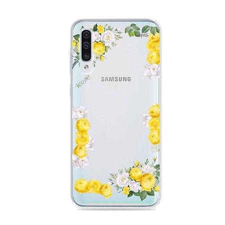Capa para Galaxy A50 - Yellow Roses